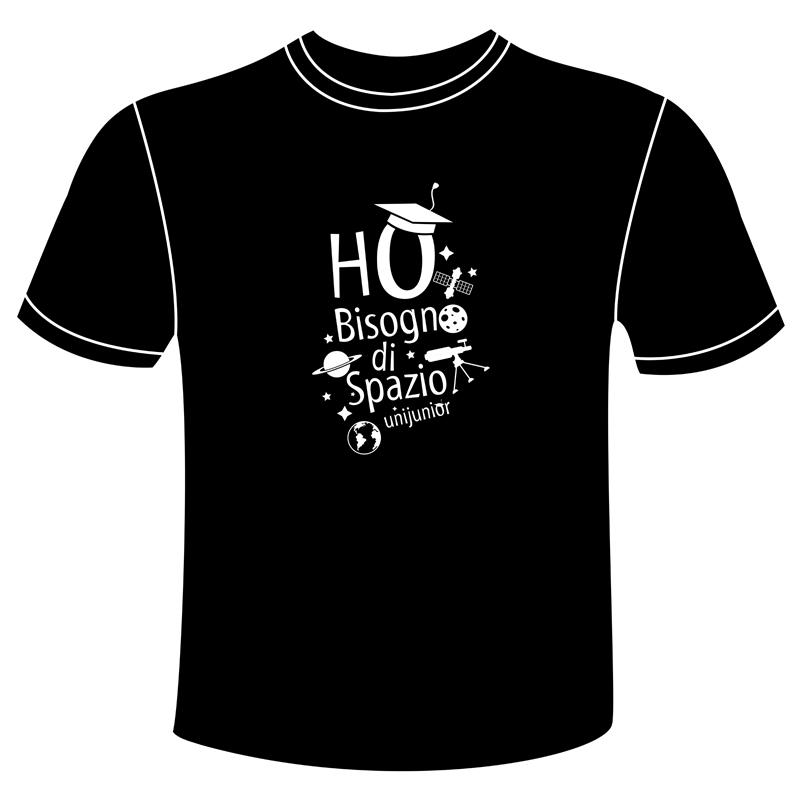 d6f121fbb78235 T-shirt adulto uomo – Ho bisogno di Spazio   Unijunior   Università ...